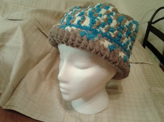 Crocheted Hat with rim