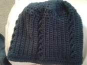 Navy Blue Crocheted beanie